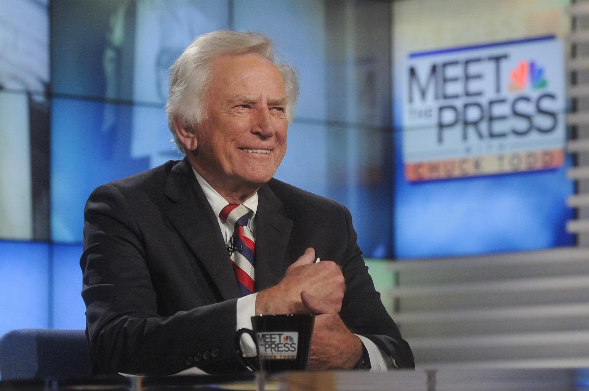 Gary Hart smiling on 'Meet the Press'