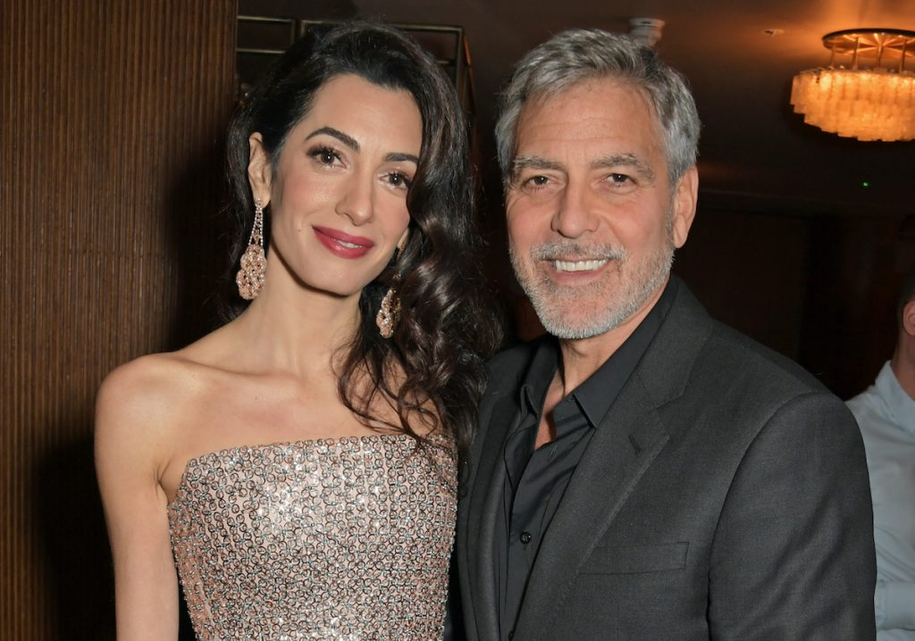 """Amal Clooney and George Clooney at the London Premiere after party for """"Catch-22"""" 