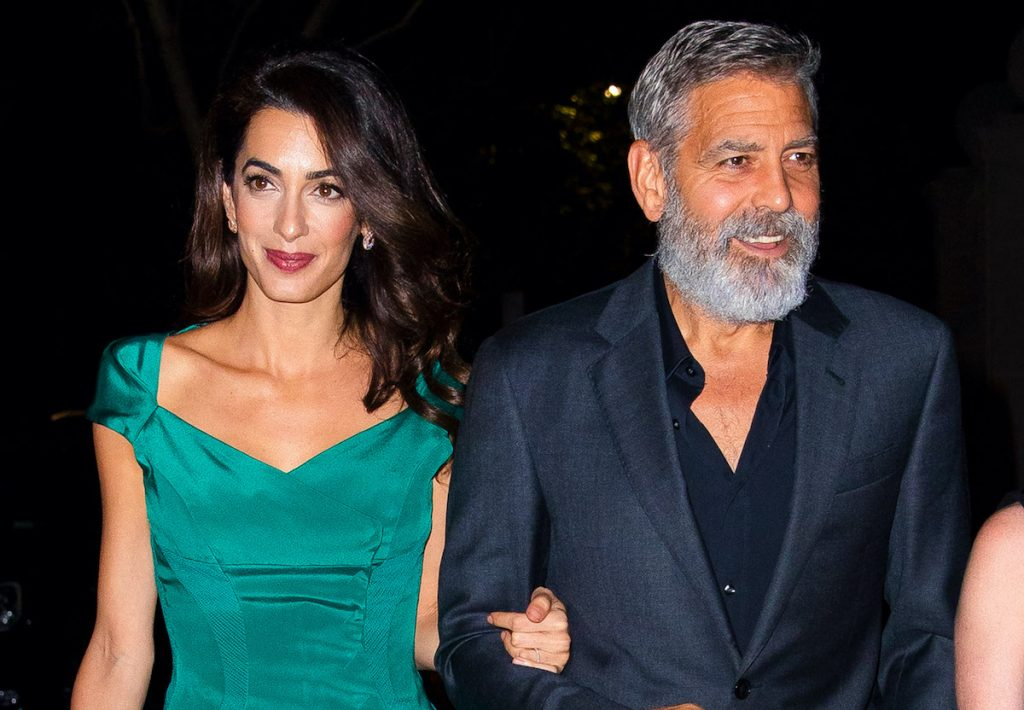 Amal Clooney and George Clooney seen on October 01, 2019 in New York City | Jackson Lee/GC Images
