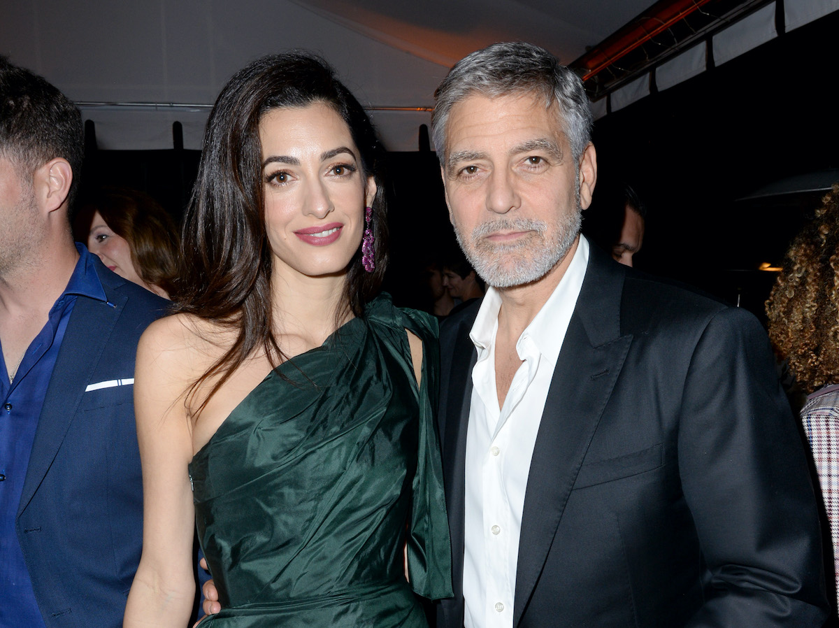 George and Amal Clooney at the premiere of 'Catch-22'