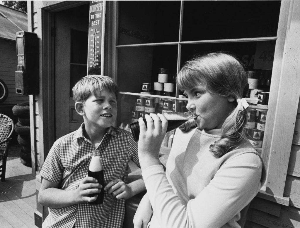 Ron Howard, left, with Mary Anne Durkin in 'The Andy Griffith Show' episode 'Opie's Girlfriend', 1966
