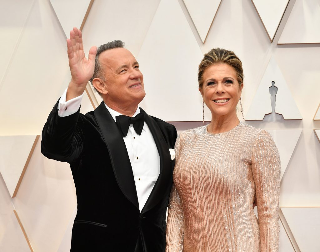 (L-R) Tom Hanks and Rita Wilson attend the 92nd Annual Academy Awards at Hollywood and Highland.