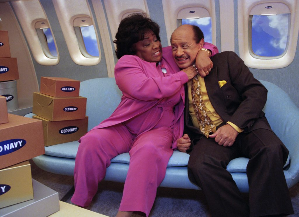 (L to R): Isabel Sanford as Louise Jefferson and Sherman Hemsley as George Jefferson, 1998