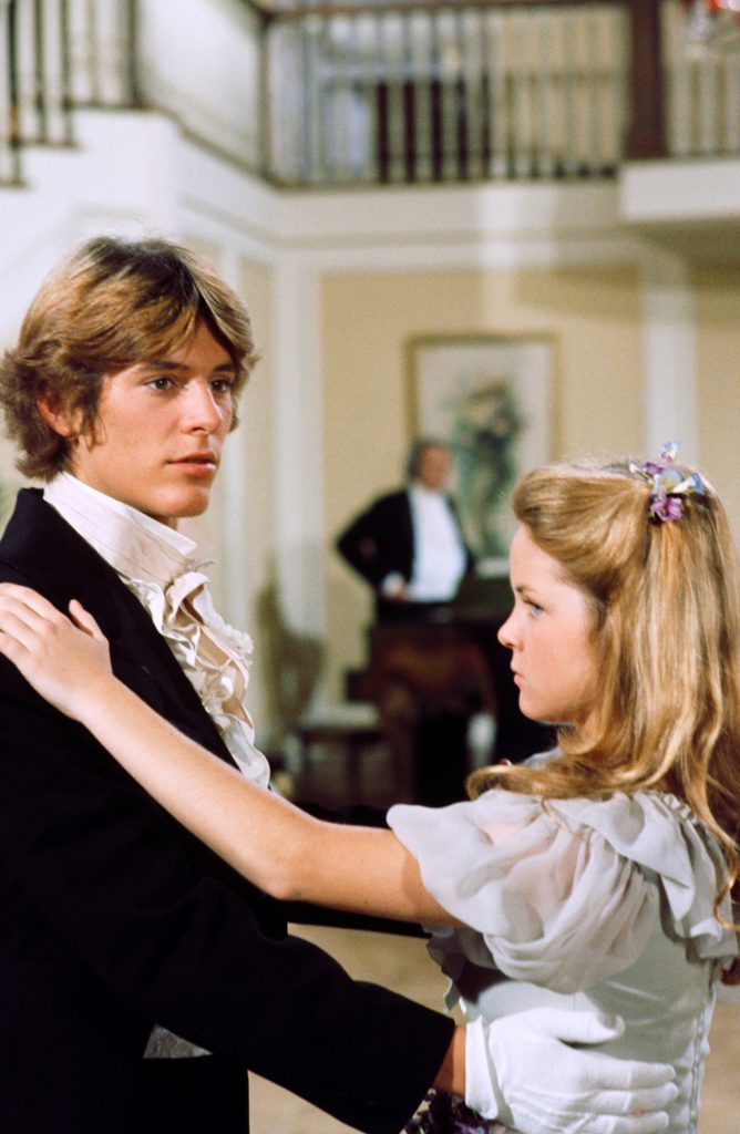 Radames Pera as John Edwards and Melissa Sue Anderson as Mary Ingalls in a scene from 'Little House on the Prairie', 1977