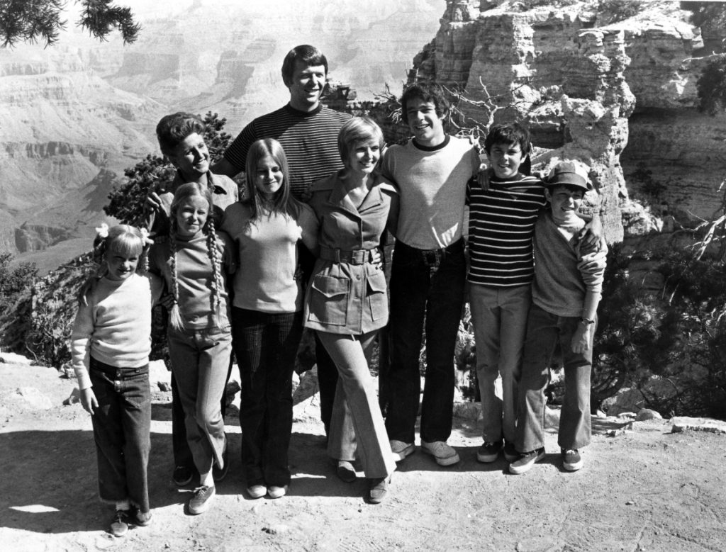 'The Brady Bunch' cast at the Grand Canyon, 1971