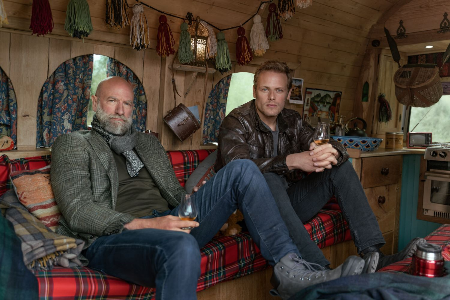 Graham McTavish and Sam Heughan in 'Men In Kilts'
