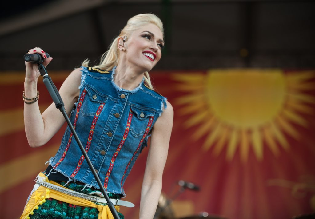 Gwen Stefani of No Doubt performs on stage during day 5 of the New Orleans Jazz and Heritage Festival on May 1, 2015 in New Orleans, United States   Edu Hawkins/Redferns via Getty Images