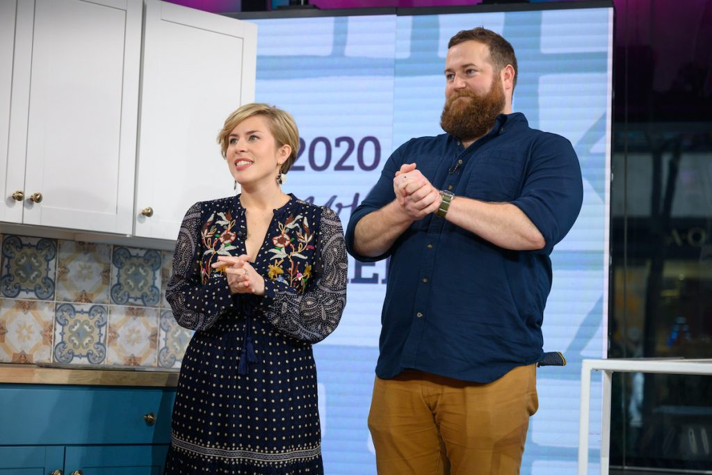HGTV's 'Home Town' stars Erin and Ben Napier in New York City in January 2020