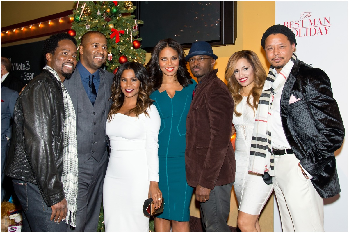 """Actors Harold Perrineau Jr., writer/director Malcolm D. Lee, Nia Long, Sanaa Lathan, Taye Diggs, Melissa De Sousa and Terrence Howard attend """"The Best Man Holiday"""" screening at Chelsea Bow Tie Cinemas on November 11, 2013 in New York City"""