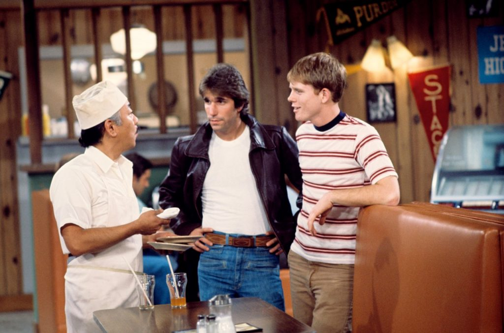 Henry Winkler on the set of 'Happy Days' | Walt Disney Television via Getty Images Photo Archives/Walt Disney Television via Getty Image