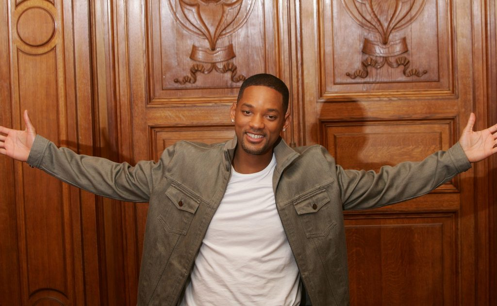 Will Smith with arms wide open