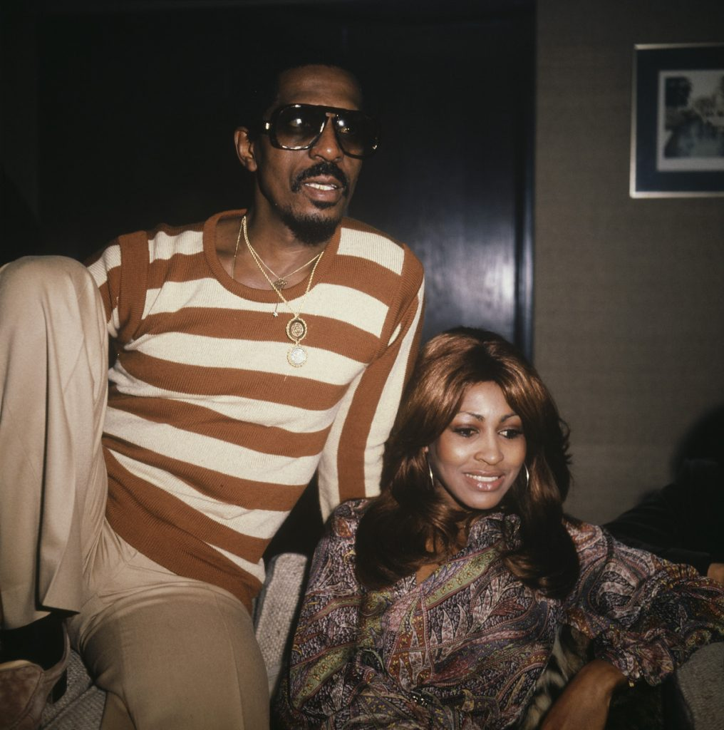 American music duo Tina Turner and Ike Turner (1931-2007) of the Ike & Tina Turner Revue attend a press interview in London in October 1975. Ike and Tina Turner are due to play one date at the Hammersmith Odeon in London on 24th October | David Redfern/Redferns via Getty Images