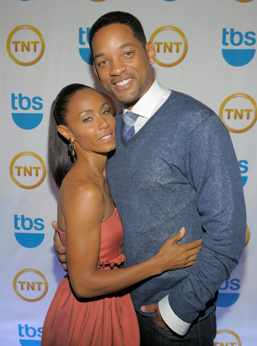 Jada Pinkettt Smith hugs Will Smith