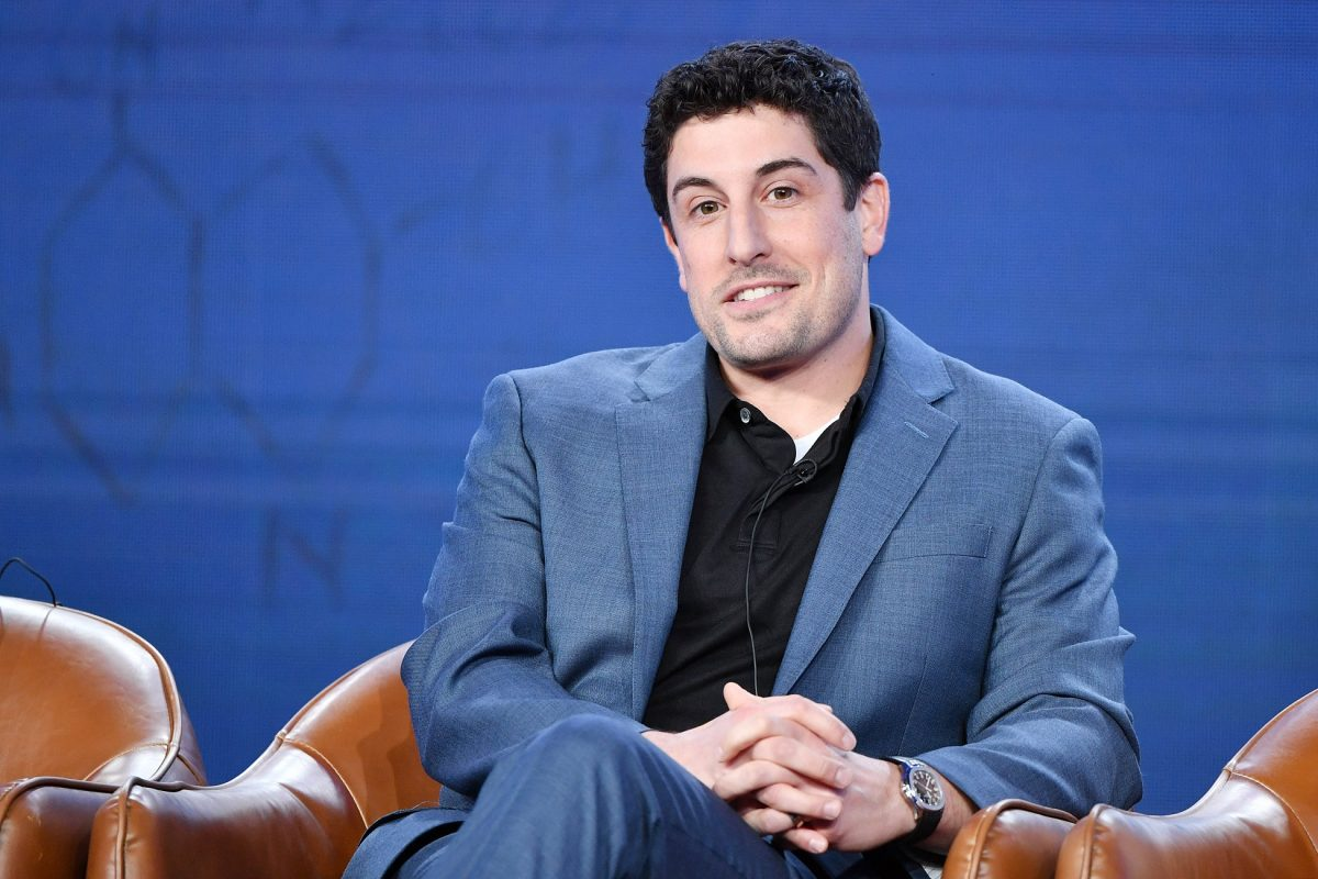 Jason Biggs speaks during the 2020 Winter TCA Pres Tour for 'Out Matched'