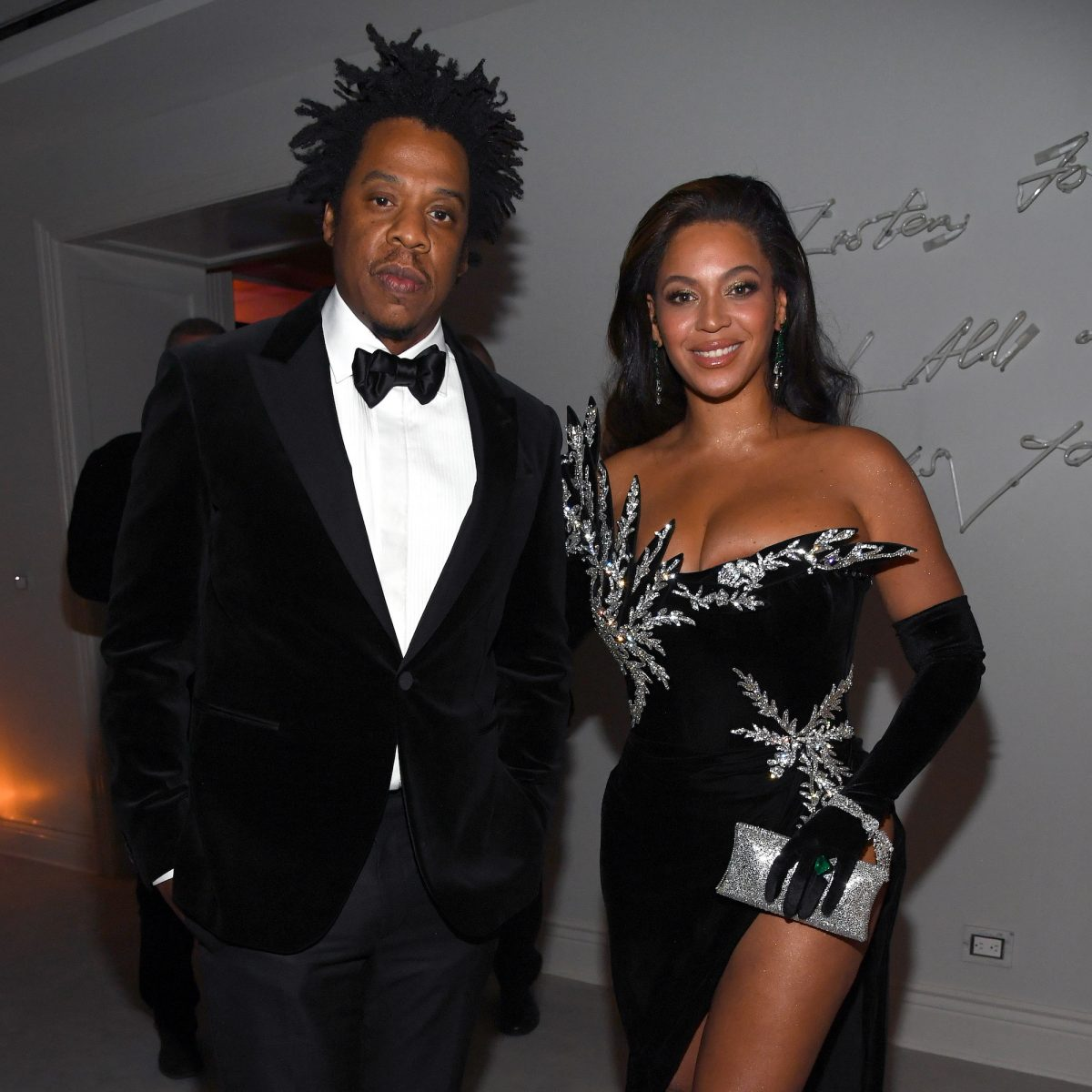 Jay-Z and Beyoncé attending an event