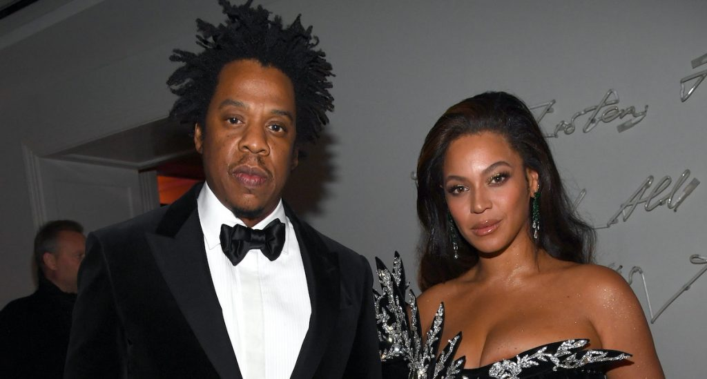 Jay-Z and Beyoncé Knowles-Carter at a party