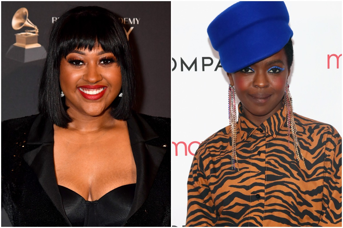 BEVERLY HILLS, CA - FEBRUARY 09: Jazmine Sullivan attends The Recording Academy And Clive Davis' 2019 Pre-GRAMMY Gala at The Beverly Hilton Hotel on February 9, 2019 in Beverly Hills, California/.GREENWICH, CT - JUNE 01: Ms. Lauryn Hill attends the Opening Night Party for the 2018 Greenwich International Film Festival at the Boys and Girls Club of Greenwich on June 1, 2018 in Greenwich, Connecticut.