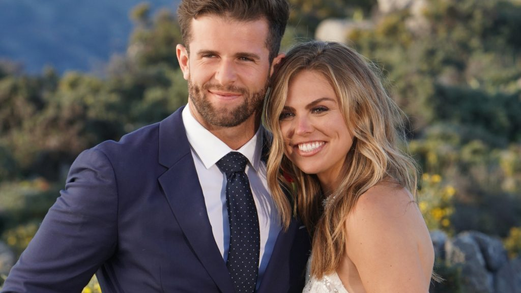 Jed Wyatt and Hannah Brown on 'The Bachelorette' finale
