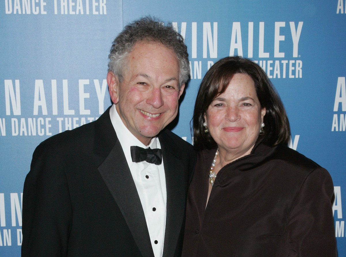 Jeffrey Garten and Ina Garten smile as they pose for photographers at the Alvin Ailey American Dance Theater Opening Night Gala