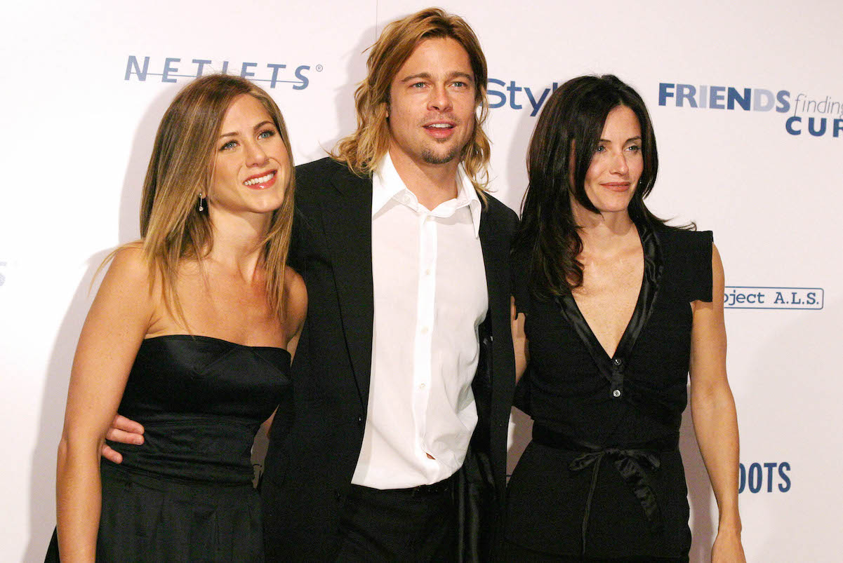 Jennifer Aniston, Brad Pitt, and Courteney Cox attend the 'Friends Finding a Cure' Gala