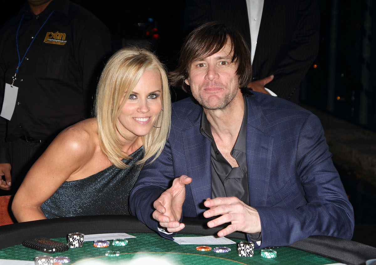 Jenny McCarthy and Jim Carrey at the Saturday Night Spectacular celebration in Miami