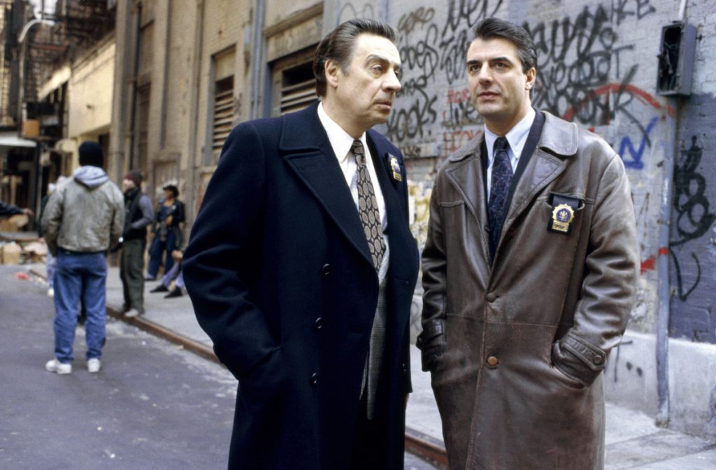 Jerry Orbach and Chris Noth in 'Law & Order'