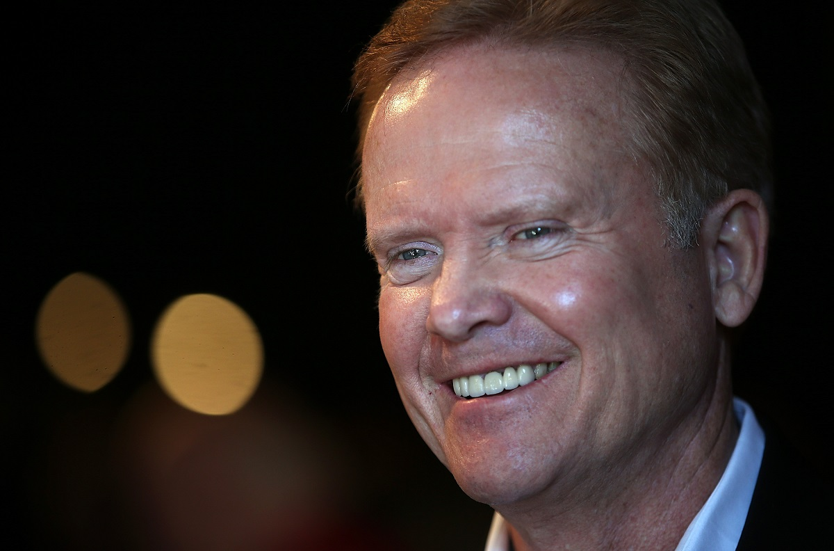 Closeup smiling shot of Jim Webb at a fundraiser in 2016