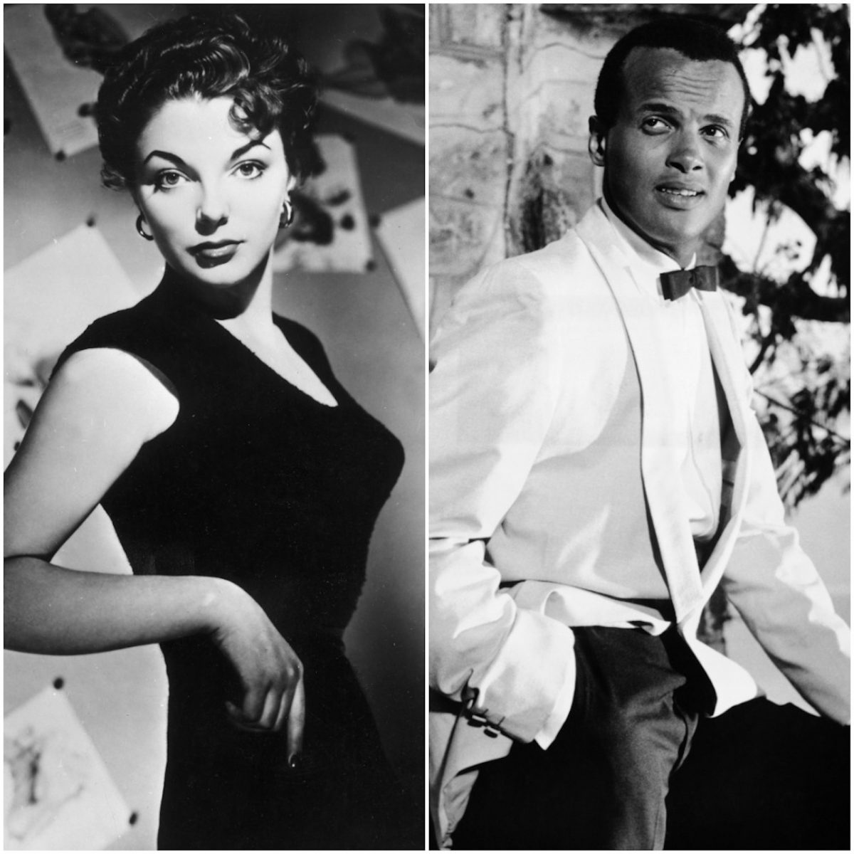 Joan Collins and Harry Belafonte