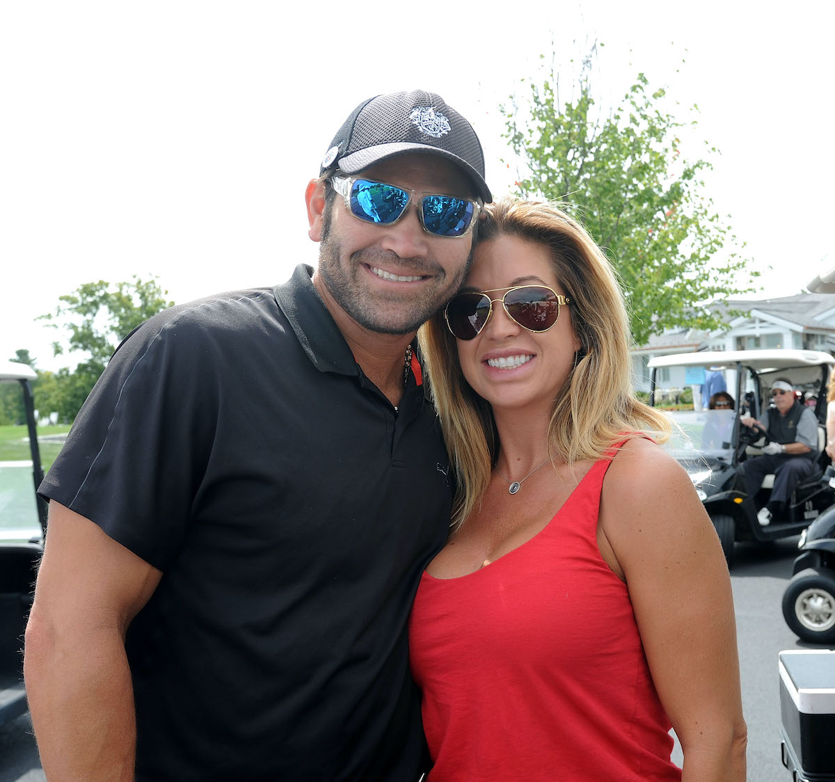 Johnny Damon and Michelle Damon attend an event