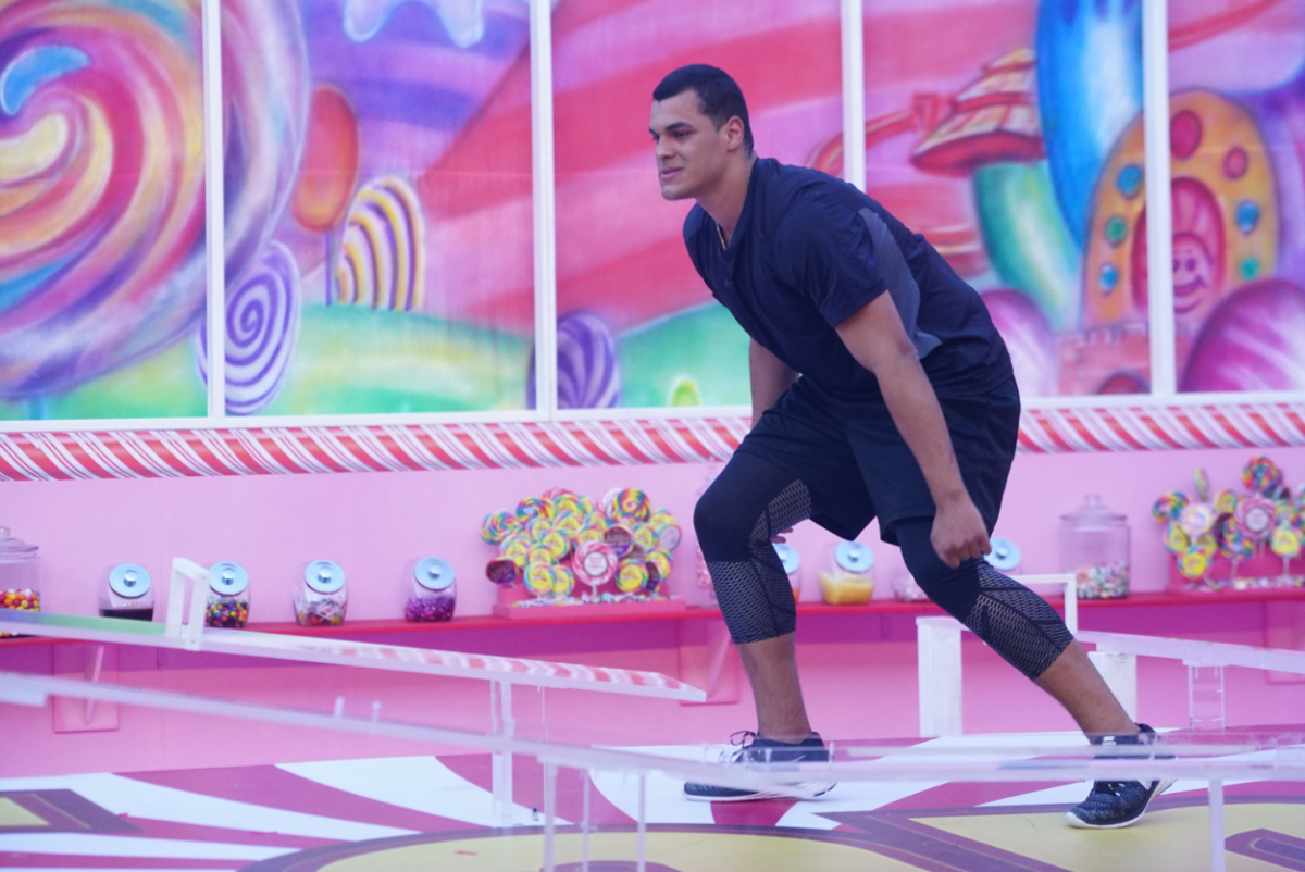 "Josh Martinez competes in Big Brother's HOH Competition ""Sugar Shot"""