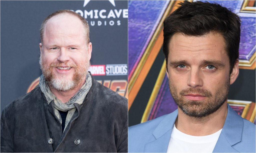 Joss Whedon at the 'Avengers: Infinity War' premiere in 2018 and actor Sebastian Stan at the 'Avengers: Endgame' premiere in 2019