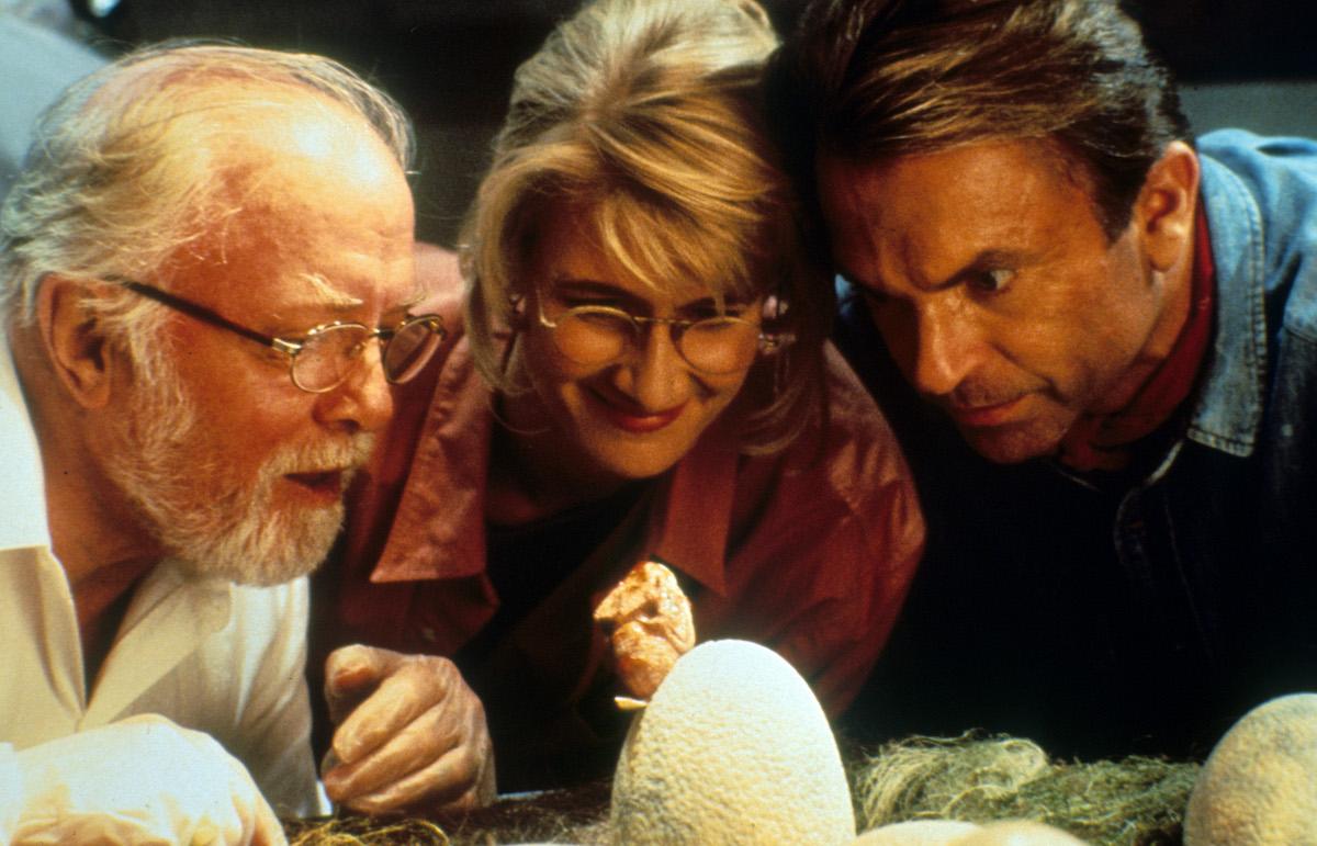 Richard Attenborough, Laura Dern, and Sam Neill in 'Jurassic Park'