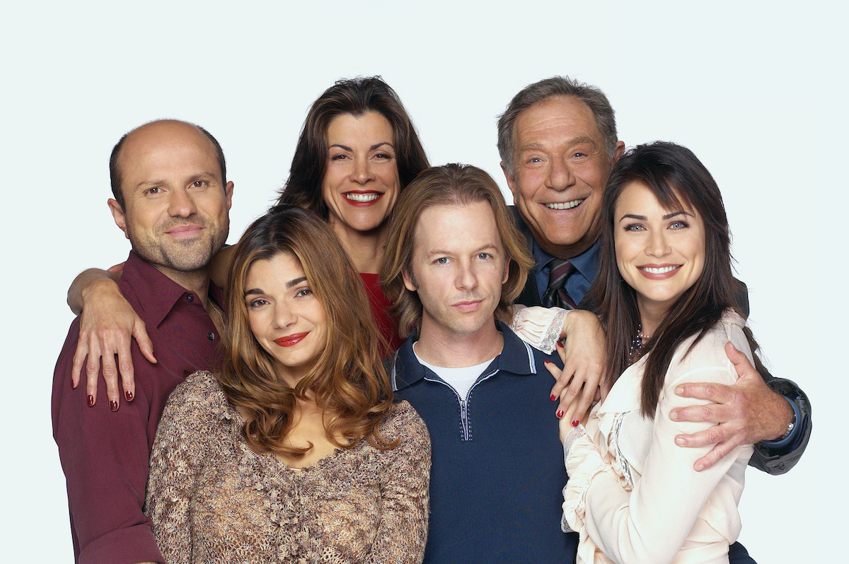 'Just Shoot Me' stars Enrico Colantoni, Laura San Giacomo, Wendie Malick, David Spade, George Segal, and Rena Sofer