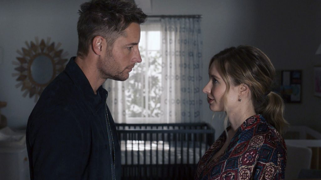 Justin Hartley as Kevin and Caitlin Thompson as Madison on 'This Is Us' Season 5 Episode 5