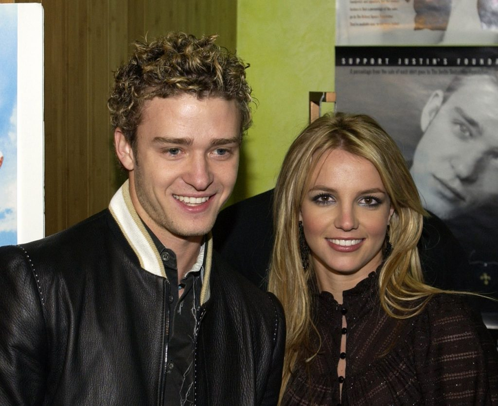 Justin Timberlake and Britney Spears attend Crossroads premiere in 2002