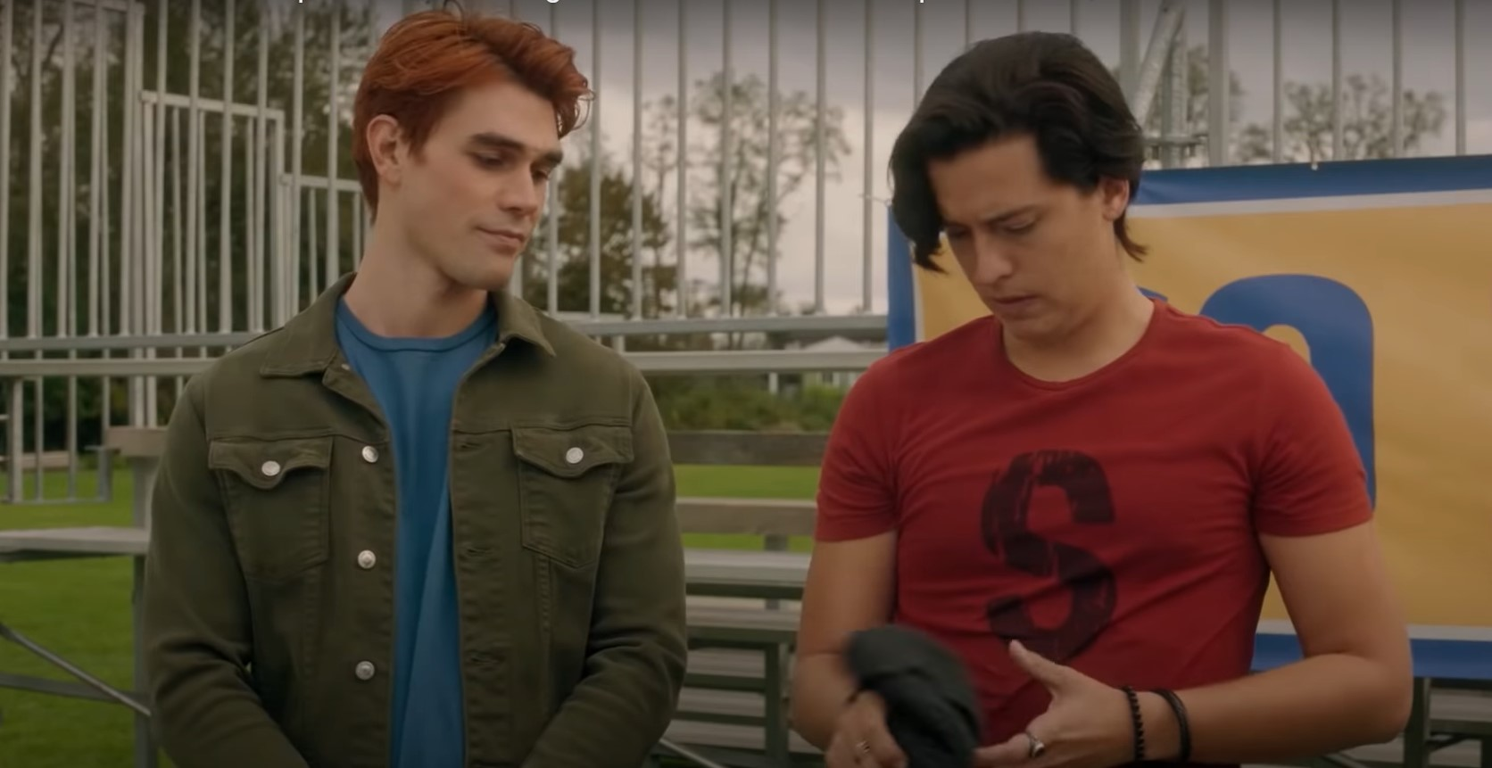 KJ Apa and Cole Sprouse as Archie and Jughead on 'Riverdale'