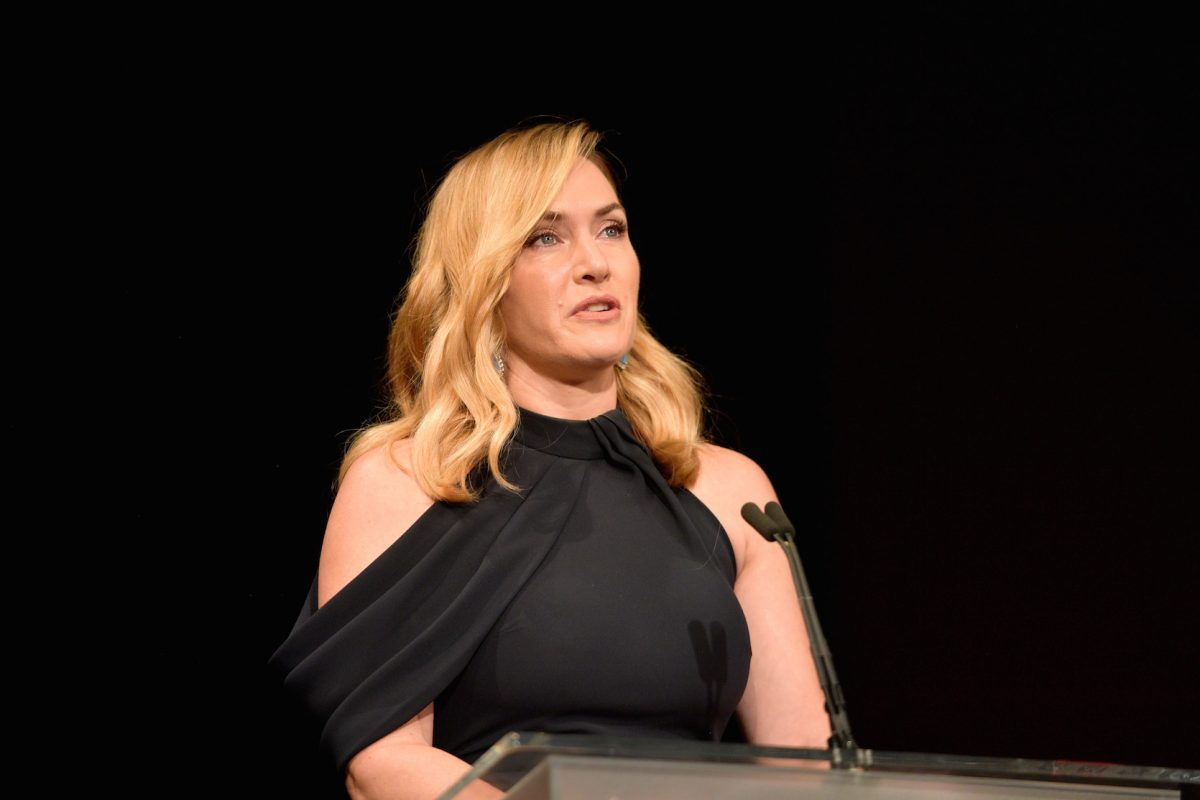 Kate Winslet accepts the Actors Inspiration Award onstage at the SAG-AFTRA Foundation Patron of the Artists Awards 2017