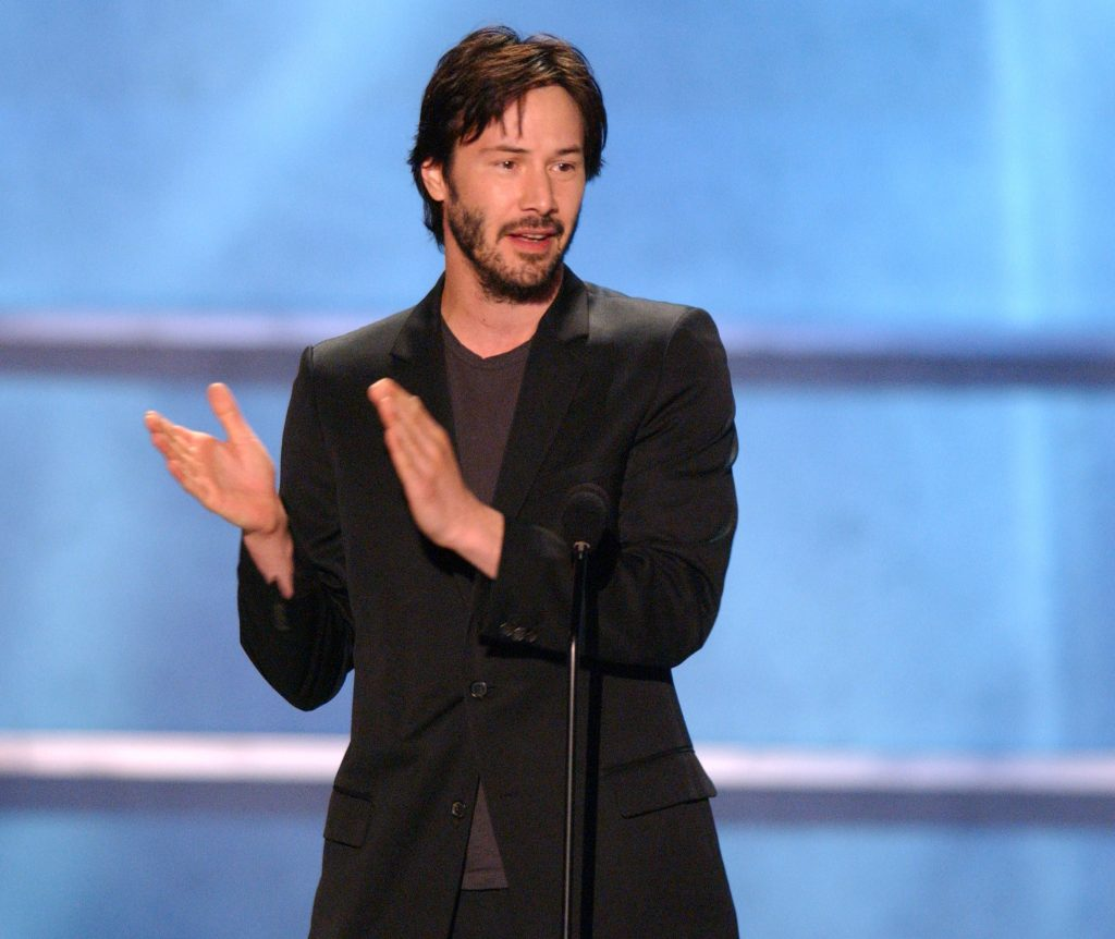 Keanu Reeves accepts the Taurus Honorary Award for Action Movie Star