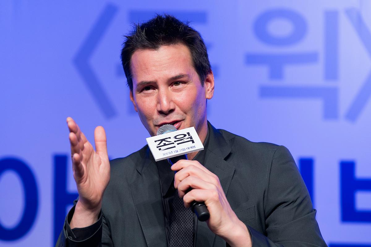 Keanu Reeves at a 'John Wick' press conference