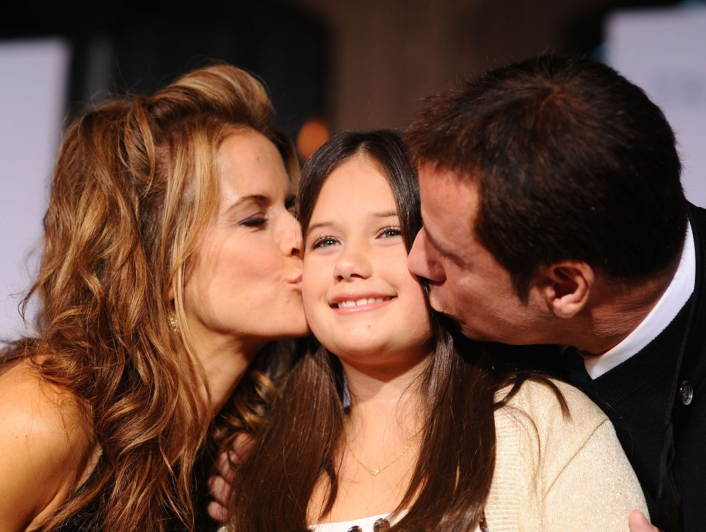 Kelly Preston, Ella Bleu Travolta, and John Travolta