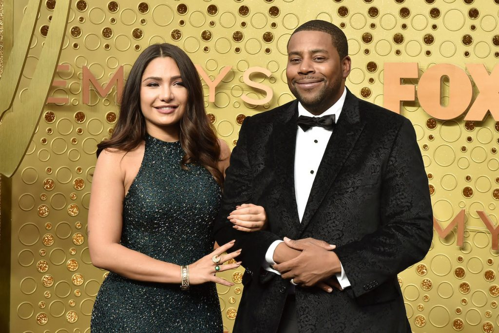 Christina Evangeline and Kenan Thompson attend the 71st Emmy Awards