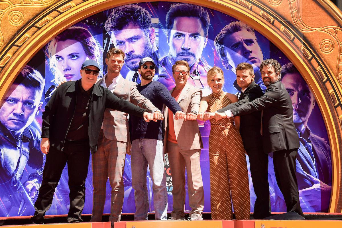 Marvel Studios/Producer Kevin Feige and 'Avengers: Endgame' stars Chris Hemsworth, Chris Evans, Robert Downey Jr., Scarlett Johansson, Mark Ruffalo, and Jeremy Renner