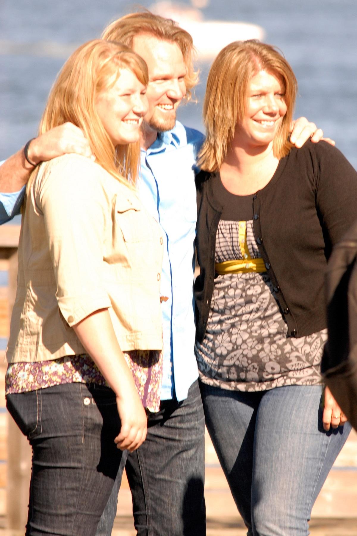 Mariah, Kody, and Meri Brown of TLC's 'Sister Wives' in Plymouth Beach, Massachusetts, in 2011