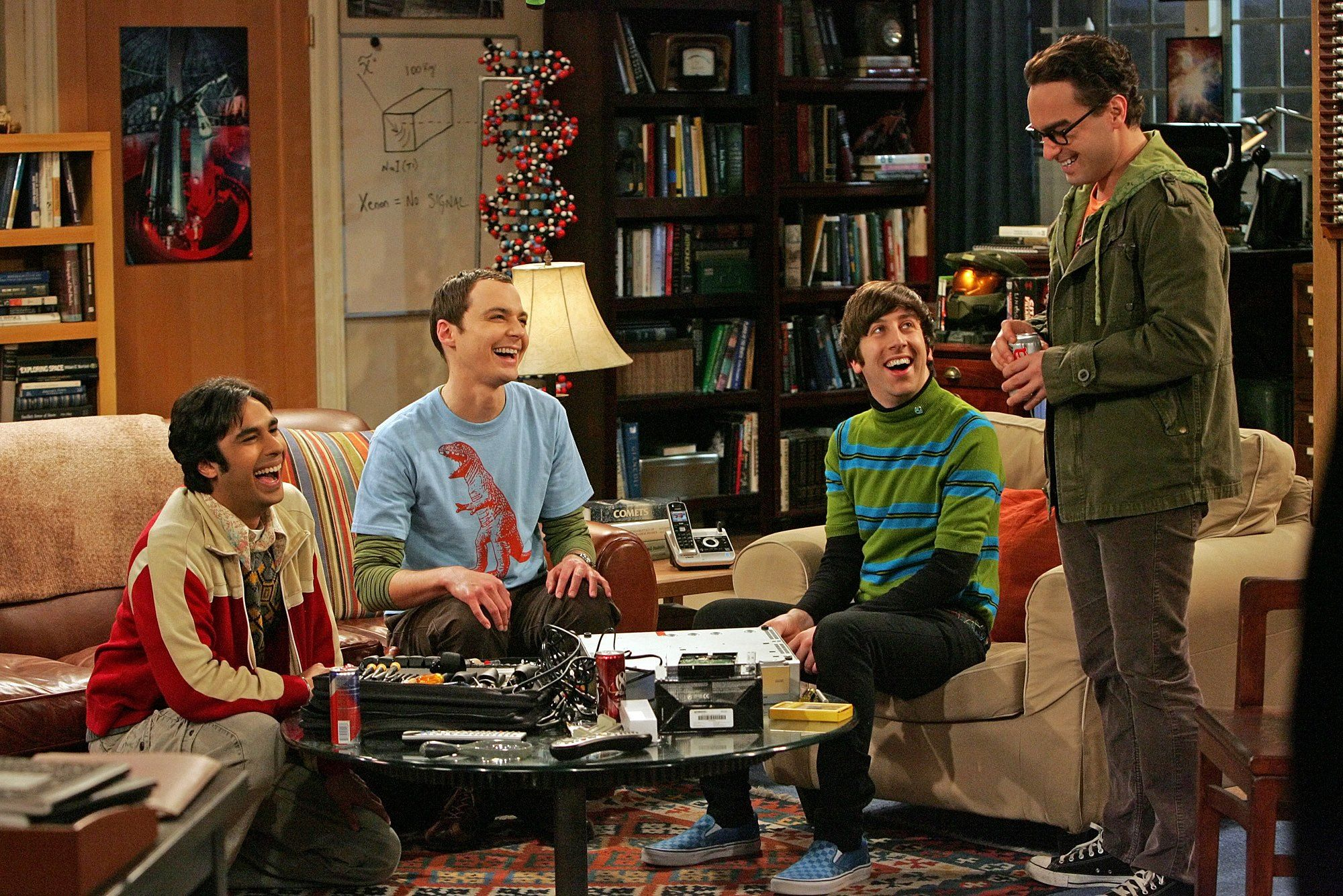 Kunal Nayyar, Jim Parsons, Simon Helberg, and Johnny Galecki on 'The Big Bang Theory'