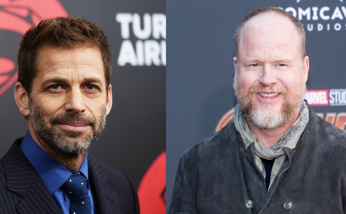 (L-R) 'Justice League' directors Zack Snyder and Joss Whedon