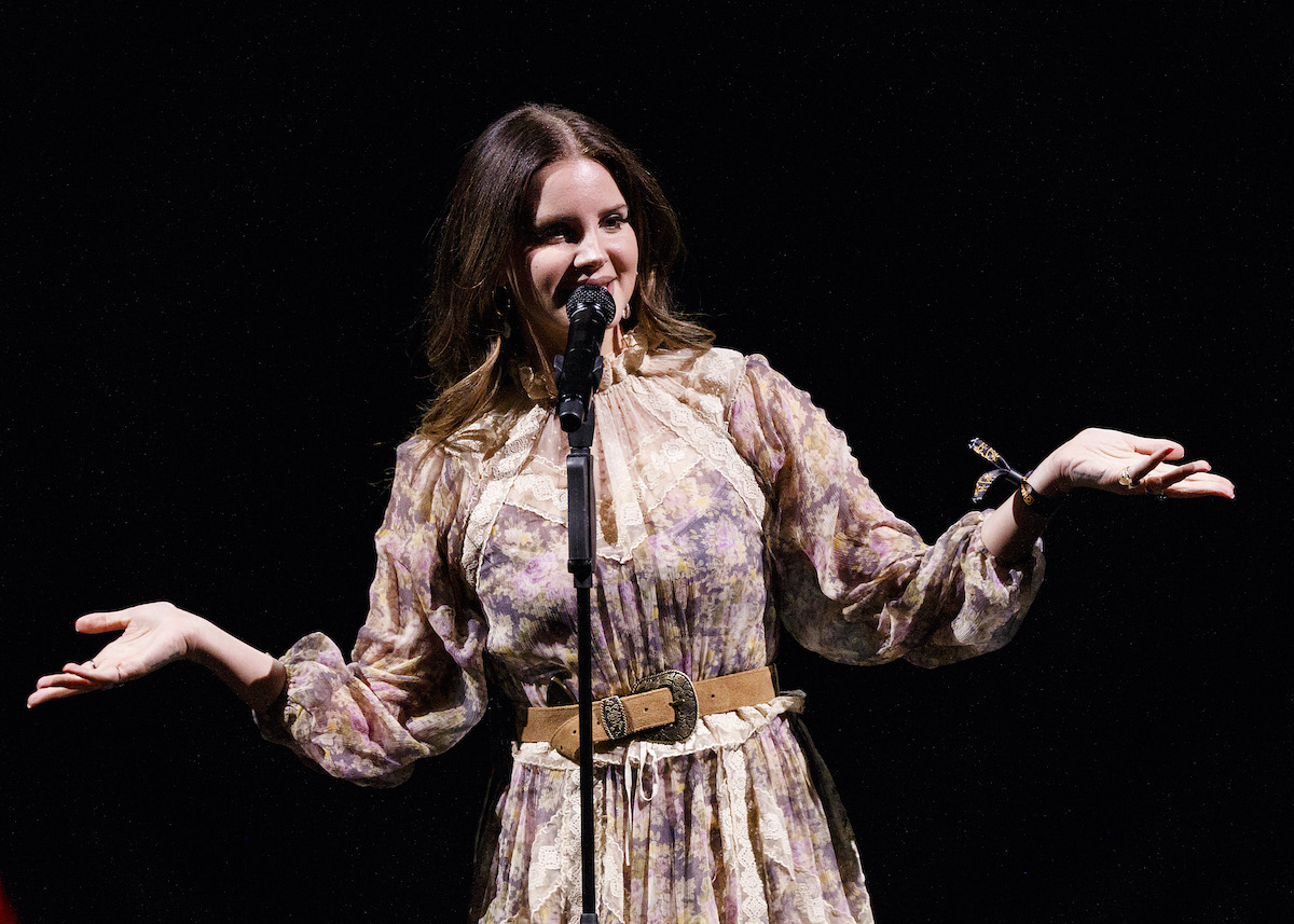 Lana Del Rey performs on stage at Rogers Arena in Vancouver