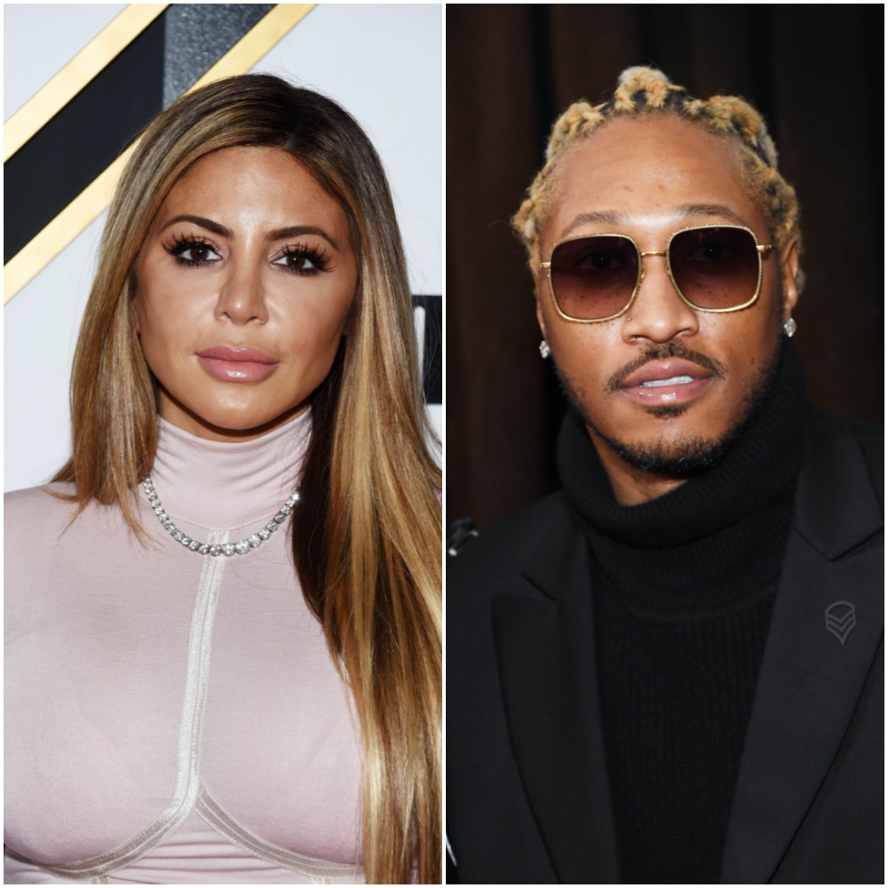 Larsa Pippen and Future in a photo collage