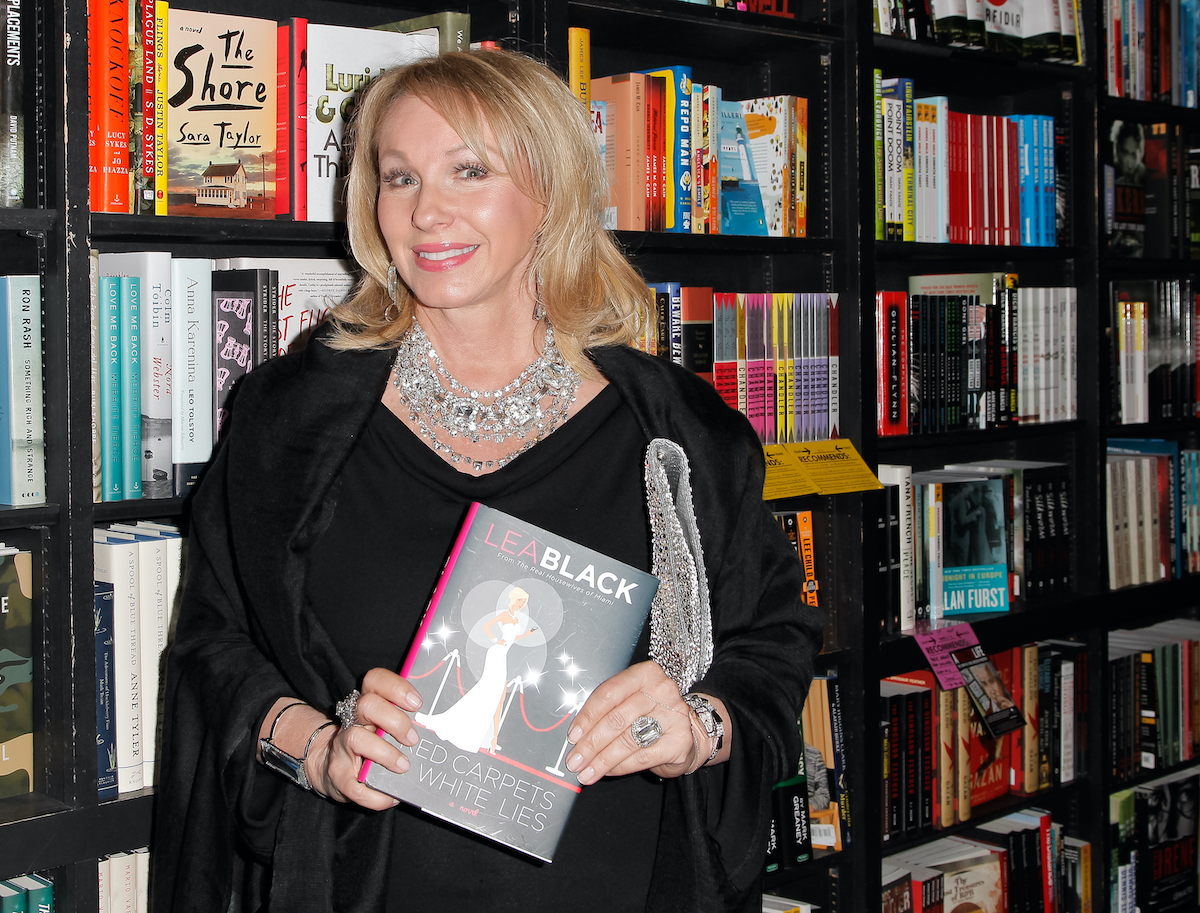 Lea Black during a book signing