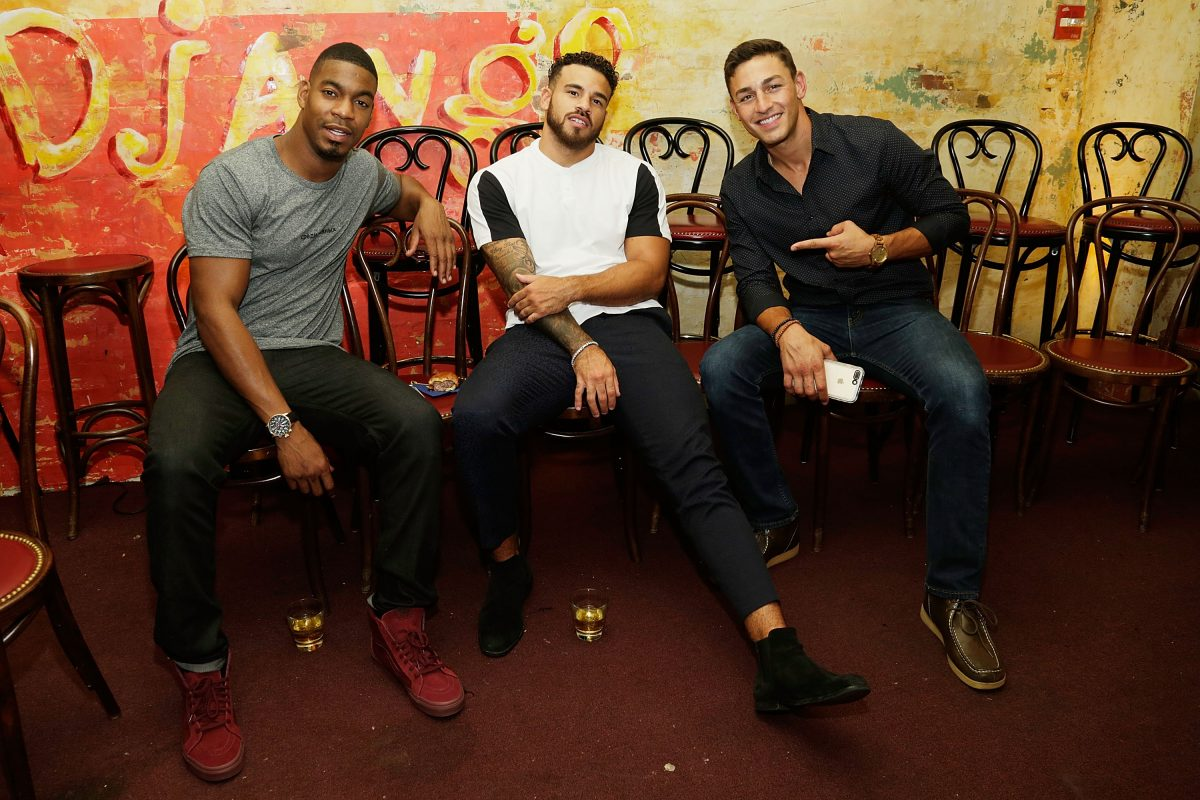 Leroy Garrett, Cory Wharton and Tony Raines attend The Challenge XXX: Ultimate Fan Experience Q & A and Reception