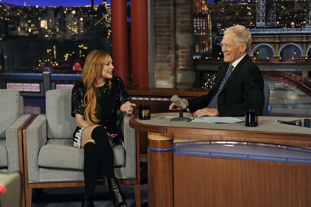 Lindsay Lohan in an interview with David Letterman